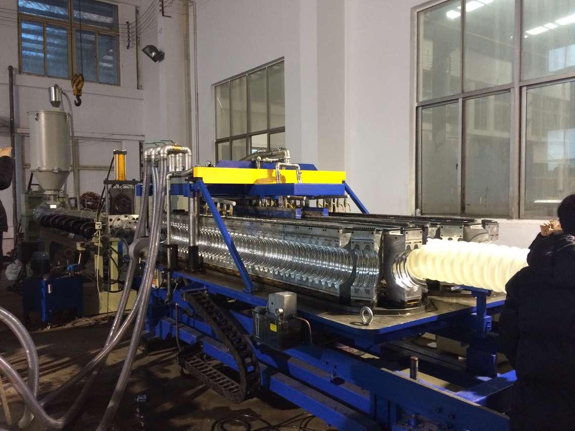 110-250mm扩口卧式双壁波纹管机器